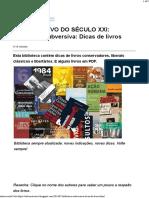 O SUBVERSIVO DO SÉCULO XXI_ Biblioteca Subversiva_ Dicas de livros