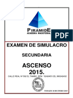 Simulacro 2015 Ascenso de Nivelsecundaria General Sin Clave Final
