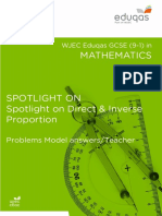 Spotlight On Direct-Inverse Proportion Problems Answers and TN (1)