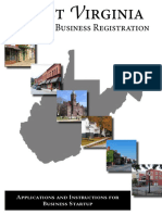 WV State Office of Business Registration Instructions and Application