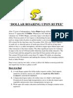 DOLLAR ROARING UPON RUPEE