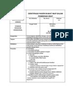 SPO Identifikasi Pasien Rawat Inap Dalam Pemberian Obat.docx