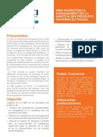 MBA Marketing et management de la santé et des produits pharmaceutique