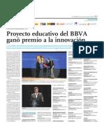 Proyecto educativo de la BBVA ganó premio a la innovación