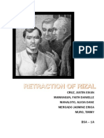 Retraction of Rizal