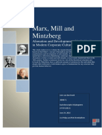 16-06-26 Marx, Mill and Mintzberg - Alienation and Development of Individuality in Modern Corporate Structures.docx