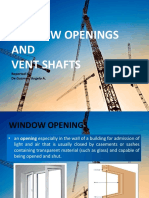 Window Openings and Vent Shafts