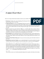 A nano Cheat-Sheet