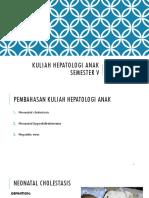 Kuliah Hepatologi Anak Semester 5