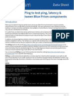 Data Sheet - How to use PsPing to test ping, latency & bandwidth between Blue Prism Components
