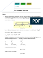 PHYS 1120 Rotational Dynamics Solutions