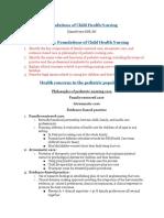 Copy of Peds 2301 Exam #1
