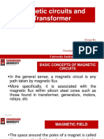 Magnetic circuits and Transformers