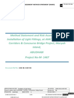 MS for Installation of Light Fittings
