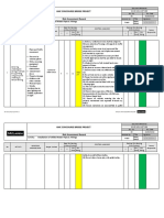 Risk Assessment of Installation of Chilled Water Pipes