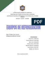 CUESTIONARIO DE REFRIGERACIÓN grupo 4