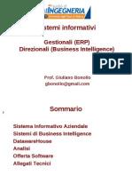 Gestionali (ERP) e Direzionali (Business Intelligence)