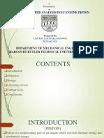 HEAT TRANSFER ANALYSIS of a piston