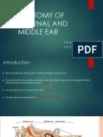 Anatomy of External and Middle Ear Drpushkar09