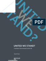 United we stand? Coalition government in the UK