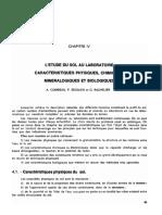 L'étude du sol au laboratoire - caractéristiques physiques, chimiques, minéralogiques et biologiques