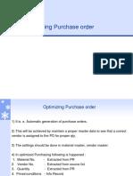 Optimizing Purchase order