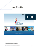 Informe de Gestión Aduana del Ecuador I semestre 2010