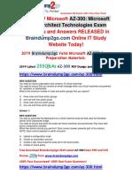 -August-2019-Braindump2go Valid AZ-300 Dumps PDF and AZ-300 Dumps VCE 255q Free Update {New Questions}.pdf