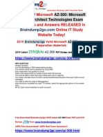 -August-2019-Braindump2go Valid AZ-300 Dumps With VCE and PDF 255q Free Update {New Questions}