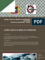 DISEÑO SÍSMICO DE MUROS DE CONTENCIÓN