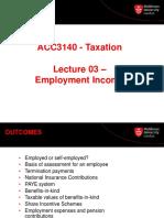 ACC3140  Lecture 3 Employment income 1920