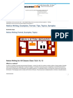 Notice Writing, Notice Format, Topics, Examples, Samples.pdf
