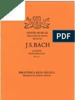 BACH, Johann Sebastian • Godelieve SPIESSENS. J.S. BACH . Suite pour luth BWV 995 (Fontes Musicae Bibliothecae Regiae Belgicae)