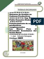 LEY PARA EL FORTALECIMIENTO DE CADENAS PRODUCTIVAS
