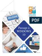 Passage à WINDOWS 10