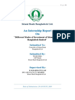 modes of investment of IBBL grroup joba