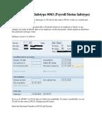 Understanding Infotype 0003