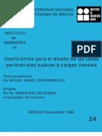 24 Coeficientes Para Losas Perimetrales