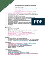 Indicaciones Generales Del Informe de Práctica de Fisiología