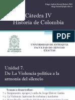 Unidad 7 De La Violencia política a la armonía del silencio