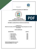 INFORME CAUDALES, RÍO CHIBUNGA