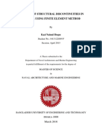 ANALYSIS OF STRUCTURAL DISCONTINUITIES IN SHIP HULL USING FINITE ELEMENT METHOD