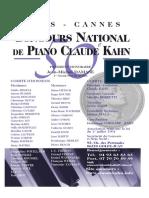 Concours Piano Claude Kahn 2019
