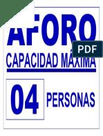 Cartel de Aforo-2