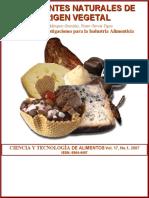Colorantes naturales de origen vegetal. Ciencia y Tecnología de alimentos, Vol. 17 (2007) - Eliosbel Márquez G.