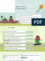 Current Policy of Literacy and its Implication in Education
