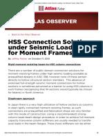 HSS Connection Solutions under Seismic Loading – for Moment Frames _ Atlas Tube