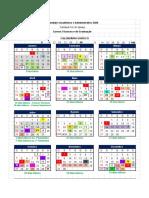 Calendário Acadêmico 2020 - Campus Foz do Iguaçu