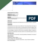FSC 5216 Mecânica Geral