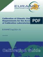 EURAMET-Cg-20 Calibration of Climatic Chambers